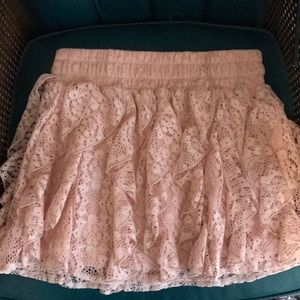 Wet Seal pink lace skirt